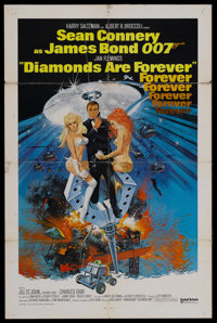 "Diamonds Are Forever (United Artists, 1971). International One Sheet (27"" X 41""). James Bond Adventure. Starri..."