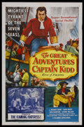"""Movie Posters:Serial, The Great Adventures of Captain Kidd (Columbia, 1956). One Sheet(27"""" X 41"""") Chapter 11 -- """"The Flaming Fortress."""" Adventure..."""
