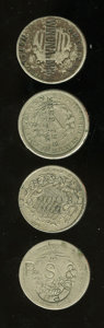Counterstamps: , U.S. Shield and Liberty Nickel Counterstamped Group Lot. Four nickel counterstamps: 186? Shield nickel counterstamped Americ... (Total: 4 Coins)