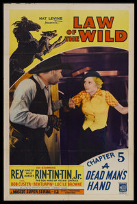 """Law of the Wild: Chapter 5 - """"A Dead Man's Hand"""" (Mascot, 1934). One Sheet (27"""" X 41""""). Serial. Star..."""