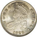 Bust Half Dollars: , 1822 50C MS63 NGC. O-111, R.2. There is a prominent center dot onLiberty's neck, and noticeable die rust creates rough pat...