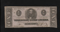 Confederate Notes:1863 Issues, T62 $1 1863. This note was able to avoid the last two years ofcirculation. Crisp Uncirculated....
