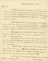 John Adams Superb Autograph Letter Signed: The 81-year-old former President reflects upon his old literary acquaintances...