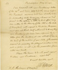 "Autographs:U.S. Presidents, Thomas Jefferson Historically Important Autograph Letter Signed: Just a month after George Washington's ""Proclamation of Neu..."