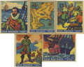 Miscellaneous Collectibles:General, 1933 World Wide Gum (Canadian Goudey, R-124) Searaider Group Lot of37. Pirates, explorers and ships are the subject matter ...