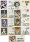 Autographs:Others, St. Louis Cardinals Signed First Day Covers Lot of 9. Highlycollectible cachets feature flawless autographs from the follow...