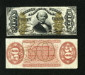 Fractional Currency:Third Issue, Fr. 1328SP 50c Third Issue Narrow Margin Pair Spinner Choice New. A boldly printed and very bright narrow margin pair with t... (Total: 2 notes)