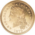 Proof Four Dollar Gold Pieces, 1879 $4 Flowing Hair, Judd-1635, Pollock-1833, R.3, PR65 NGC....