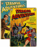 Golden Age (1938-1955):Science Fiction, Strange Adventures #13 and 47 Group (DC, 1951-54) Condition:Average GD/VG.... (Total: 2 Comic Books)
