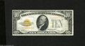 Small Size:Gold Certificates, Fr. 2400 $10 1928 Gold Certificate. Very Fine+....