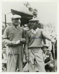 Golf Collectibles:Autographs, Byron Nelson and Ben Hogan Dual-Signed Photograph. The two menpictured here were great friends, competing against each oth...