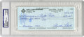 Autographs:Checks, 1993 Curt Flood Signed Check, PSA Authentic. The man who can saidto have created the need for the modern era of Free Agenc...