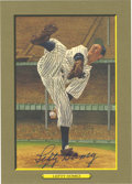Autographs:Post Cards, Lefty Gomez Signed Perez-Steele Great Moments Card. The beautiful card issue issued by the Perez-Steele Galleries known as ...