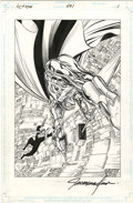 Original Comic Art:Splash Pages, Jackson Guice - Action Comics #691, Splash Page 1 Original Art (DC,1993)....