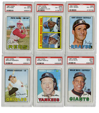 1967 Topps Baseball Complete Set (609), Plus Variations (2) & Wrapper (1).Offered is a solid middle grade 1967 Topps...