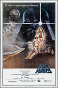 """Movie Posters:Science Fiction, Star Wars (20th Century Fox, 1977). Flat Folded, Very Fine-. Fourth Printing One Sheet (27"""" X 41"""") Style A, Tom Jung Artwork..."""