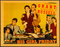 "Movie Posters:Comedy, His Girl Friday (Columbia, 1940). Very Fine. Lobby Card (11"" X 14""). Comedy. From the Collection of Frank Buxton, of which..."