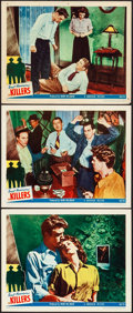 "Movie Posters:Film Noir, The Killers (Universal, 1946). Overall Grade: Very Fine-. Lobby Cards (3) (11"" X 14""). Film Noir. From the Collection of F... (Total: 3 Items)"