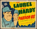 "Movie Posters:Comedy, Pardon Us (Film Classics, R-1944). Fine+. Title Lobby Card (11"" X 14""). Comedy. From the Collection of Frank Buxton, of wh..."
