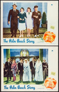 "Movie Posters:Comedy, The Palm Beach Story (Paramount, 1942). Very Fine-. Lobby Cards (2) (11"" X 14""). Comedy. From the Collection of Frank Buxt... (Total: 2 Items)"
