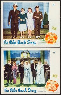 "The Palm Beach Story (Paramount, 1942). Very Fine-. Lobby Cards (2) (11"" X 14""). Comedy. From the Collection o..."