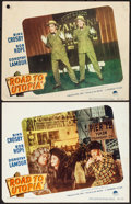 "Movie Posters:Comedy, Road to Utopia (Paramount, 1946). Overall Grade: Fine/Very Fine. Lobby Cards (2) (11"" X 14""). Comedy. From the Collection ... (Total: 2 Items)"