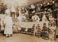Photography:Cabinet Photos, Two Men in a Butcher's Shop (circa late 1910s/early 1920s)....