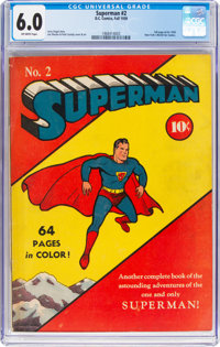 Superman #2 (DC, 1939) CGC FN 6.0 Off-white pages