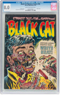 Golden Age (1938-1955):Horror, Black Cat Mystery #50 (Harvey, 1954) CGC VF 8.0 Cream to off-white pages....