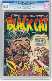 Black Cat Mystery #50 (Harvey, 1954) CGC VF 8.0 Cream to off-white pages