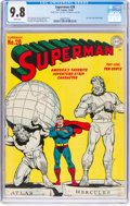 Golden Age (1938-1955):Superhero, Superman #28 Double Cover (DC, 1944) CGC NM/MT 9.8 White pages....