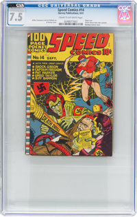 Speed Comics #14 (Harvey, 1941) CGC VF- 7.5 Cream to off-white pages