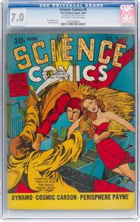 Science Comics #5 (Fox, 1940) CGC FN/VF 7.0 Off-white to white pages