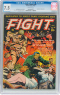 Golden Age (1938-1955):War, Fight Comics #28 (Fiction House, 1943) CGC VF- 7.5 Off-white pages....