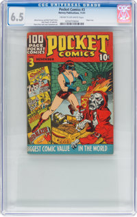 Pocket Comics #3 (Harvey, 1941) CGC FN+ 6.5 Cream to off-white pages