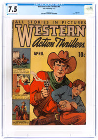 Western Action Thrillers #1 (Dell, 1937) CGC VF- 7.5 Cream to off-white pages