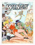 Original Comic Art:Covers, Bob Lubbers Wings Faux-Cover Original Art (1999)....