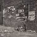 Photographs:Gelatin Silver, Bedrich Grunzweig (American, 1910-2009). No Way Out, Times Square, New York City, 1948. Gelatin silver, printed later. 1...