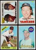 Baseball Cards:Lots, 1965-69 Topps Hall of Famers Collection (4) - Jackson, Mantle,Morgan & Palmer. ...