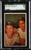 Baseball Cards:Singles (1950-1959), 1953 Bowman Color Phil Rizzuto/Billy Martin #93 SGC 84 NM 7....