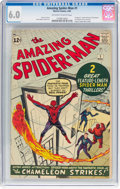 Silver Age (1956-1969):Superhero, The Amazing Spider-Man #1 (Marvel, 1963) CGC FN 6.0 Off-white to white pages....