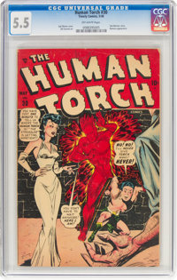 The Human Torch #30 (Timely, 1948) CGC FN- 5.5 Off-white pages