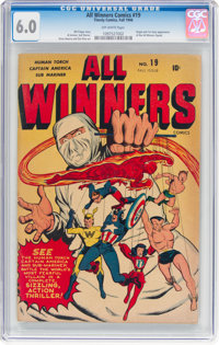 All Winners Comics #19 (Timely, 1946) CGC FN 6.0 Off-white pages