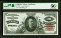 Large Size:Silver Certificates, Fr. 320 $20 1891 Silver Certificate PMG Gem Uncirculated 66 EPQ.. ...