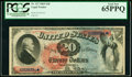 Large Size:Legal Tender Notes, Fr. 127 $20 1869 Legal Tender PCGS Gem New 65PPQ.. ...