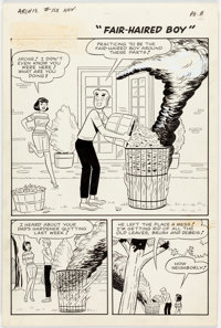 "Harry Lucey and Vincent DeCarlo Archie #168 Complete 6-Page Story, ""Fair-Haired Boy,"" Original Art (Archie Com..."