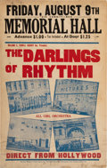 Miscellaneous:Broadside, The Darlings of Rhythm Poster....