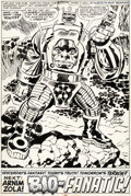 Original Comic Art:Splash Pages, Jack Kirby, Frank Giacoia, and John Verpoorten CaptainAmerica #208 Splash Page 17 Original Art (Marvel, 1977)....