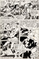John Byrne and Dave Hunt Marvel Team-Up #63 Story Page 10 Iron Fist and Davos Original Art (Marvel, 1977).... (1)