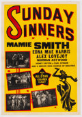 Miscellaneous:Movie Posters, Sunday Sinners (International Road Shows, 1940).